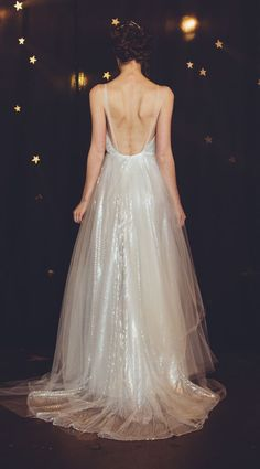 a wedding dress that sparkles...yes, please! // dress by Cleo & Clementine