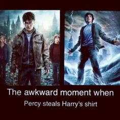 They should fight over it...Percy can control water, but there's also that Aquamenti spell.