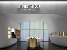 SHISEIDO FUTURE SOLUTION LX - PROJECTS | I IN Pharmacy Design, Retail Design, Shiseido Future Solution Lx, Sustainability Projects, Shop Facade, Ceiling Plan, Wall Finishes, Private Room, Timeless Beauty