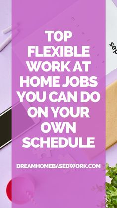 There are a wide range of flexible work from home jobs whether you want a day schedule or night schedule. Dream Home Based Work has sorted through the options and developed a list of curated jobs grouped into categories such as tutoring, customer service, typing, and so on. Here are 100 legitimate companies who offer flexible work from home jobs. Save this pin! #workathome #onlinejobs #remotejobs Work From Home Companies, Work From Home Business, Work From Home Opportunities, Work From Home Tips, Earn Money From Home, Way To Make Money, Home Based Work, Customer Service Jobs, Virtual Assistant Jobs