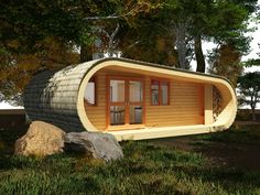 """This modern wooden house designed by the """"Blue Forest""""can easily be installed in your yard as a guest facility, home office or room for relaxation and enjoyment. House, """"Eco Perch"""" has enough space for a full kitchen, dining room, private bedroom, living room with comfortable sofa and a bed and bathroom. The wooden structure of [&hellip"""