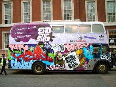 123Klan - Adidas - Celebrate Originality, 2007 [For the London  launch of the collection, to celebrate it, 123Klan and the other artists involved with the project repainted a double-decker.]