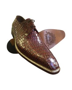 cool Cognac Leather Oxfords