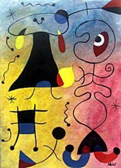 Tres Ninos En El Parque - Oil on Paper - Joan Miro 30 X 21 CM