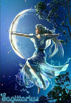 Artemis was the Goddess of the Hunt and the Goddess of the Moon in Greek mythology. Fantasy World, Fantasy Art, Camp Half Blood Cabins, Sagittarius Art, Artemis Goddess, Moon Goddess, Fable, Zodiac Art, Zodiac Signs
