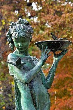 Bird Watcher Statue