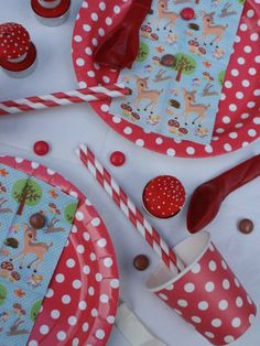 Woodland Party - reds and whites