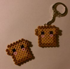 Mini French Toast Perler Keychains on Etsy, $1.95