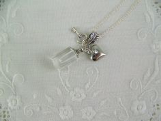 Glass Vial Necklace Perfume Necklace Bottle by CreatedinTheWoods, $13.95