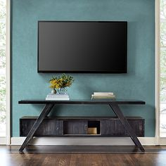 "A Frame 70"" TV Console in Barnwood Black"