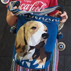 Wayuu bag single thread รุ่น the dog ( premium Quality)🔴Sold out🔴•ฐาน 9.8นิ้ว สูง 13นิ้ว•สายยาว 108cm.•ฟรี Emsขอบคุณคุณลูกค้ามากๆค่ะ 🙏🙏🙏Unique style by wayuukissFB ➡️ WayuuKissLine ➡️ @wayuukiss ( มี@นำหน้าค่ะ)IG ➡️ wayuukiss=accept credit card,paypal==#wayuukiss #wayuubag #popularbikini #กระเป๋าพลอยเฌอมาลย์ #colombia #importthailand #summerbag #hotitem #mochilabag #mochilas #bikini #kinni #wayuubikini #popularbikini #กระเป๋าพลอยเฌอมาลย์ #colombia #importthailand #summerbag #hoti Tapestry Bag, Tapestry Crochet, Crochet Woman, C2c, Line Patterns, Crochet Animals, Gift Bags, Purses And Bags, Diy Projects