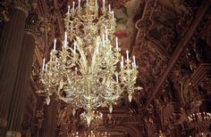 This chandalier is actually in the Paris Opera House...Wow!