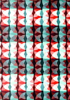 pattern by Emma Ridgway. Circles coral teal aqua turquoise @Tina Doshi Doshi Olsson/FYLLAYTA Optical Day