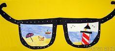 Tekenopdracht bij kern 12, 'Door een zomerse bril'.