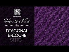 How to Knit the Diagonal Brioche Stitch