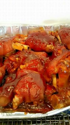 Bbq'd pigfeet Pork Recipes, Slow Cooker Recipes, Cooking Recipes, Healthy Recipes, Recipies, Bbq Pig Feet Recipe, Pork Hock, Southern Dinner, Man Food