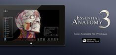 We are pleased to announce that our Essential Anatomy 3 app is now available on Windows - http://applications.3d4medical.com/essential_anatomy_3/windows #anatomy #medical