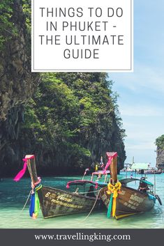"""Things to do in Phuket - The Ultimate Guide for First Time Visitors. Phuket is both a province in Thailand, which includes over 30 islands, but generally Phuket is referred to as the island of Phuket, Thailand's largest island. Once known as a hedonistic destination for international backpackers, thanks in part to the Leo DiCaprio move """"the Beach"""" Phuket now attracts all kinds of tourists, from backpackers to luxury seekers. #phuket #thailand"""