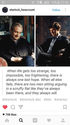 credit to insta account mentioned in screenshot. Johnlock Love