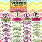 Here is a perfect way to track what you've taught in Writer's Workshop-VOICES.  Each letter represents one of the six traits of writing.  Each targ...