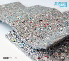 ECOLAM Aglomerado inerte que proviene de desperdicio industrial (Poli aluminio 90% PEBD y 10% aluminio) para cubierta de techos y muros falsos, fachada ventilada, Aislante Térmico, acústico, impermeable, auto extinguible Reciclado y reciclable