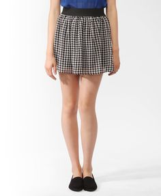 Short Pixelated Print Skirt