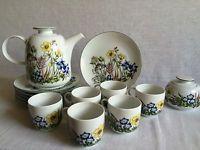 Melitta Friesland Kaffeeservice 14 Teile Regatta Wiesenblumen Vintage RAR