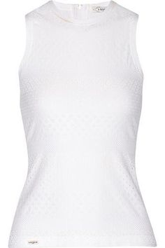 Pointelle stretch-jersey tank #offduty #covetme #l'etoilesport