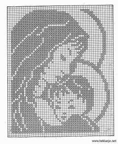madonna and child free filet crochet pattern - Google Search