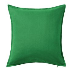 Ikea Cushion Pillow Cover Medium Green Gurli with Zipper: gurli, ikea, Cushion cover Machine wash, warm 104 Do not bleach. Do not tumble dry. Do not dryclean. Cushion Covers Online, Big Girl Bedrooms, Yellow Theme, Ikea Us, 20x20 Pillow Covers, Living Room Seating, House Inside, Textiles, Affordable Furniture