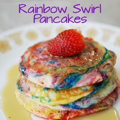 Rainbow Swirl Pancakes