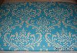 Bright Blue Damask Twin/XL Dorm Bed Scarf