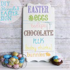 DIY Stenciled Easter Decor