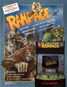 Rampage- we play this (and other games) every New Year. Last year we got it for the wii