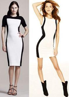 Stella McCartney @ 795$ vs color block jersey dress @ MANGO for only 79$.