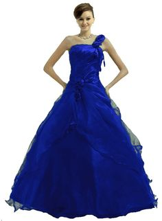 prom dress | Royal blue junior prom party princess prom gown dresses 2014 for ball