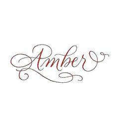 Amber Name Tattoo Design