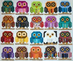 Here are some of our favorite free patterns for owls! We've found some truly adorable owl quilt designs. And who could resist a lovable owl-. Owl Quilts, Bird Quilt, Sampler Quilts, Cat Quilt, Animal Quilts, Scrappy Quilts, Applique Quilts, Owl Quilt Pattern, Baby Quilt Patterns