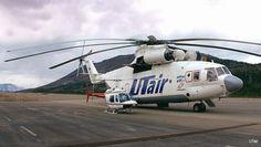 MI-26 beside a Bell 206
