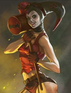 Arlequina by Yurie Bijasa Injustice 2, Gotham Villains, Dc Comics Girls, Harely Quinn, Female Villains, Hq Dc, Comic Book Girl, Gotham Girls, Dc Memes
