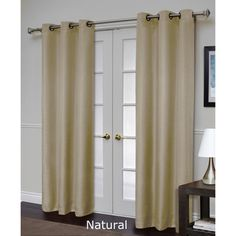 @Overstock - These energy-efficient thermal textured black-out panels offer the added benefits of blocking the outdoor light and reducing exterior noise. Foam backing insulates the room from heat and cold.http://www.overstock.com/Home-Garden/Residence-Villamora-Blackout-84-inch-Curtain-Panel-Pair/7861202/product.html?CID=214117 $38.99