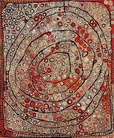 Naata Nungurrayi, Marrapinti, 2004, acrylic on linen, 183 x 152 cm., Mossgreen Auctions, Sydney.