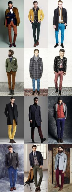 Men's Autumn/Winter Coloured Trousers Lookbook
