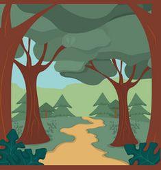 Forest landscape cartoon vector Forest Landscape, Vector Free, Moose Art, Graphic Design, Cartoon, Illustration, Artwork, Painting, Animals