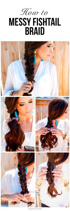 Easy Step by Step tutorial, learn how to create this hairstyle. Messy Fishtail Braid, the perfect braid for long hair. Summer hairstyle, Emily Gemma Hair. Emily Ann Gemma Hairstyle, The Sweetest Thing Blog. #hairstyle #emilygemma #thesweetestthingblog #fishtailbraid #longhair