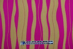 300748 Fuschia Stripes Wavy Brocade