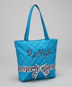 Take a look at this Blue Bow Dance Tote by Seesaws & Slides on #zulily today!