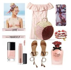"""pink"" by kindushijv on Polyvore featuring Hollister Co., Beach Riot, Dolce&Gabbana, Vanessa Seward, Avenue, MAC Cosmetics and Chanel"