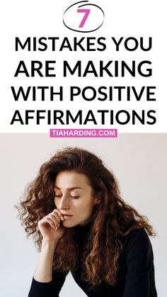 The 7 mistakes you are making with positive affirmations. And the reasons why positive affirmations aren't working for you! Positive Affirmations Quotes, Affirmation Quotes, Negative Words, Negative Thoughts, Getting Over Depression, Overcoming Depression, Ways To Be Happier, Improve Mental Health, Anxiety Tips