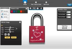 Perfect for Paris trip.  Design your personalized Love Lock with our interactive designer!